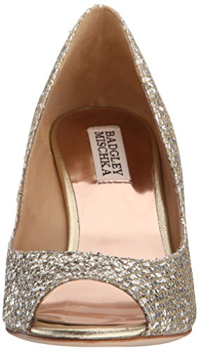 Badgley Mischka Mujeres Awake Wedge Sandal Platino