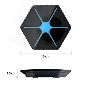 [2018 UPGRADED] Best Wireless Charger - HappyHapi Auto Safety Qi Wireless Charging Pad for for iPhone 8 or iPhone X,Universal For All Qi-Enabled Devices