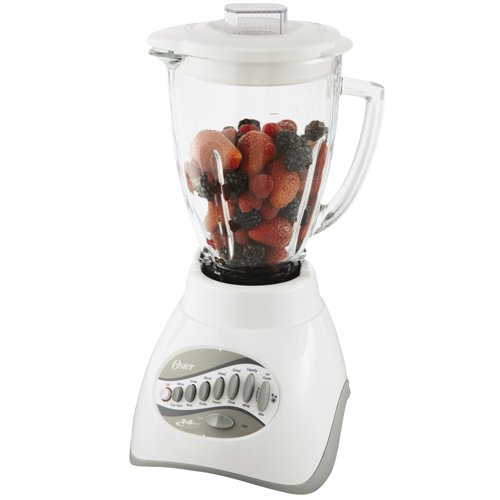 (Oster 6803 Core 14-Speed Blender with Glass Jar, White)
