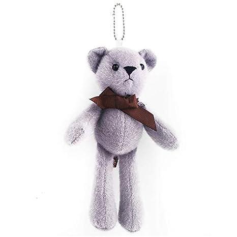 Amazon.com: Rarido - Llavero de peluche, diseño de oso de ...