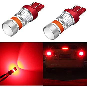 Alla Lighting 3800lm 7440 7443 Red LED Strobe Brake Lights Bulbs Xtreme Super Bright T20 7441 7444 7443 LED Bulb High Power 3030 SMD 12V LEDs for Auto Car Truck Flashing Brake Stop Tail Light