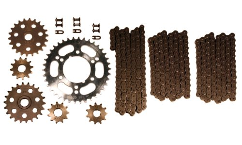 Natural Drive Chains & Sprockets Kit Polaris Magnum 425 4x4 1995 1996 1997 - Chains Polaris 425 Magnum