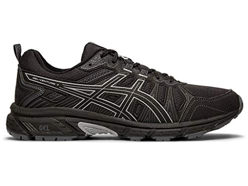ASICS Men's Gel-Venture 7 Running Shoes, 10.5M, Black/Sheet Rock (Best Running Shoes For Supination)