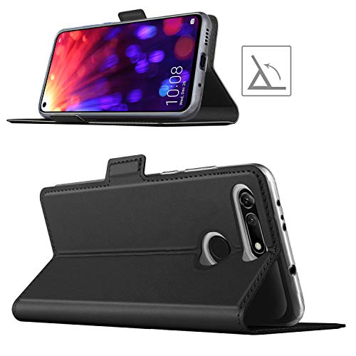 YATWIN Case Compatible for Honor View 20 case, Premium PU Leather with Wallet Card Slot Magnetic Closure Flip Case Cover for Honor View 20 Cases - Black