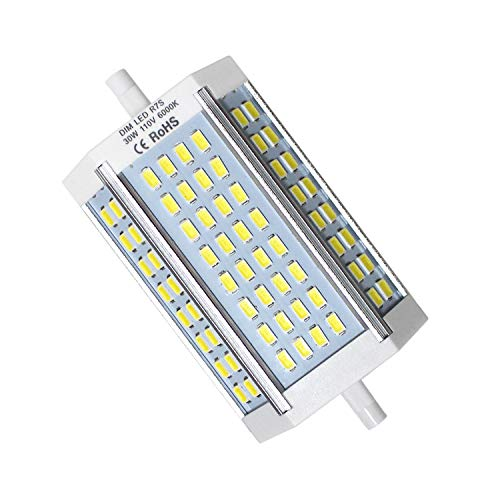 250 Ended Double Bulb Watt - Opcove R7s LED Bulb, 118mm J Type LED Light Bulbs Dimmable, J118 30W Double Ended Floodlight, Daylight 6000K 200-250W Halogen Bulbs Replacement (1 Pack)