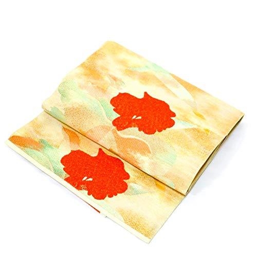 Used, Nagoya OBI: Belt for Kimonos Beige-Gold Flower Design for sale  Delivered anywhere in USA