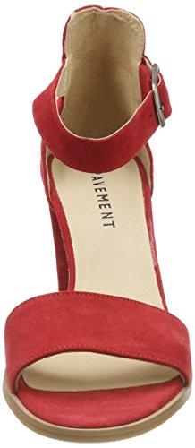 Sandalo da con scamosciata pelle caviglia cinturino 324 rossa rosso Silke donna alla Pavement 324 p5xqE0R