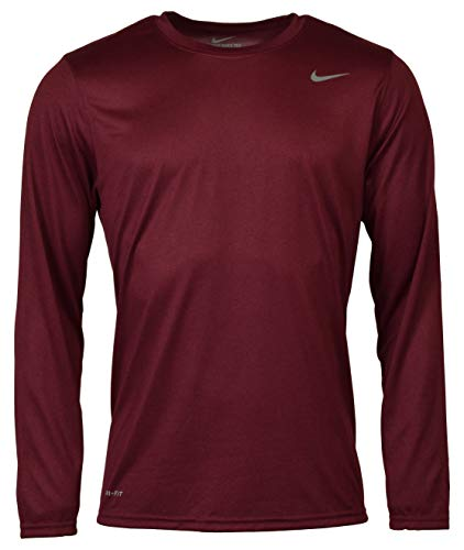 Nike Men's Legend Dri-Fit Long Sleeve T-Shirt - L - Red