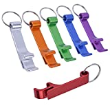 BronaGrand Keychain Bottle Opener,6 Pieces Aluminum Bartender Beer Bottle Opener