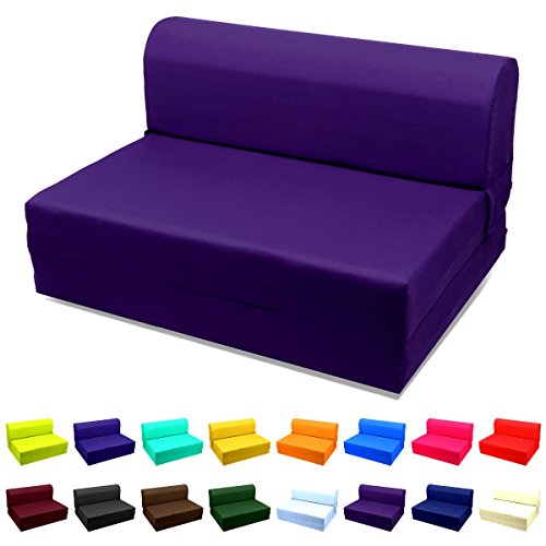 Magshion Sleeper Chair Folding Foam Bed Choose Color & Sized Single,twin or Full (Twin (5x36x70), Purple)