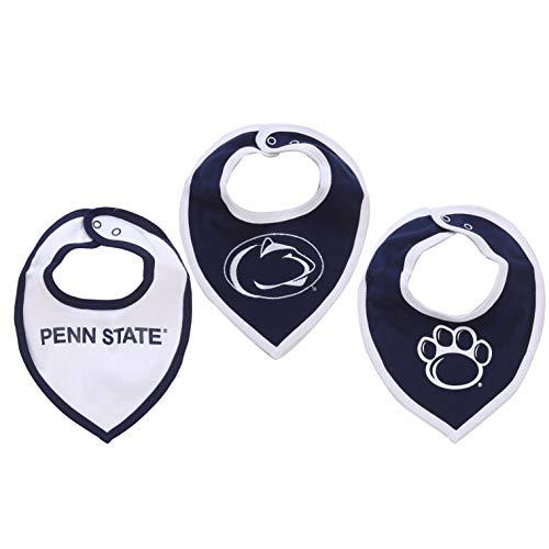 NCAA Penn State Nittany Lions Baby Bib Set (3 Pcs) for Boy or Girl Blue