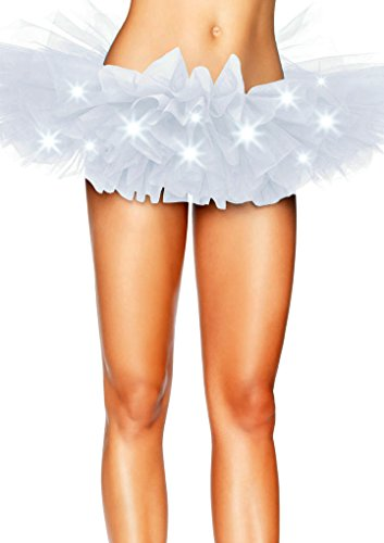 Ballet certains LED Mini taille Multicouche Jupe LED lumires 42 blanc Frilly intime Tutu 34 Aimerfeel avec Femmes unique des Ruffle Petticoat FAnfqWxv6w