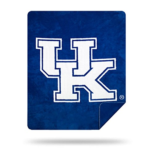 Officially Licensed NCAA Kentucky Wildcats Denali Silver Knit Throw Blanket, Blue, 60
