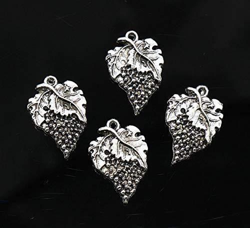 silver grape charms - 9