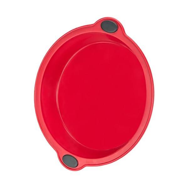 Levivo Stampo per Torta in Silicone / Forma per Torta in Silicone, Diametro 24 cm, Rosso 4 spesavip