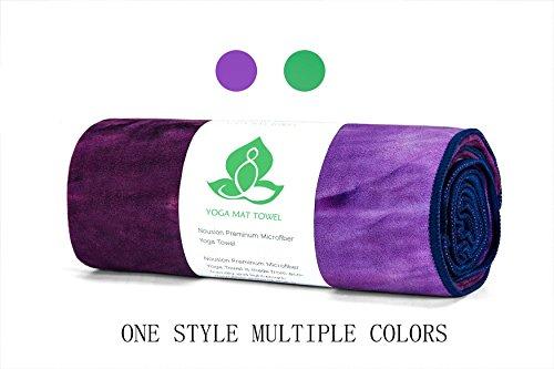 Yoga Towel - 100% Sweat Activated Gripping Microfiber, Non Slip, Skidless, Super Absorbent Soft, Ideal Hot Yoga Towel, Pilates, Bikram, Ashtanga Meditation, Fitness, Sports, Beach