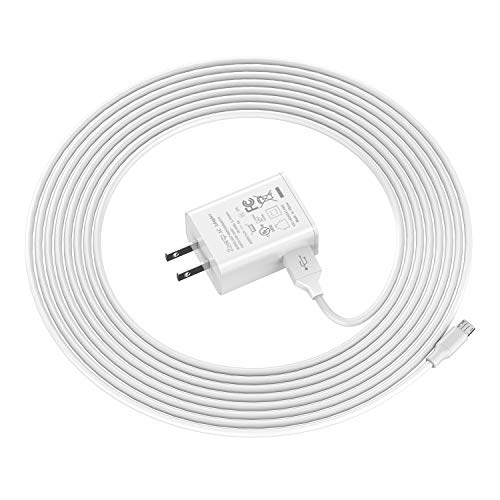 Ztotop Kindle Fire Fast Charger,[UL Listed] AC Adapter 2A Rapid Charger with 5.0 Ft Micro-USB Cable for Kindle Fire HD 7 8 10 Tablet and Phones Kids Edition HD 7 8 10.1 ,Tab Power Supply Cord White
