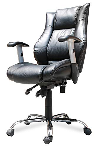 Smugdesk Executive Office Chair Ergonomic Heavy Duty Chair Leather Adjustable Swivel Comfortable Rolling Chair