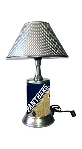 hrome Colored Shade, Pittsburgh Panthers Plate Rolled in on The lamp Base ()
