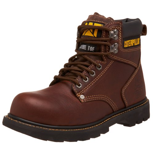 "Caterpillar Men's 2nd Shift 6"" Steel Toe Boot,Tan,12 W US"