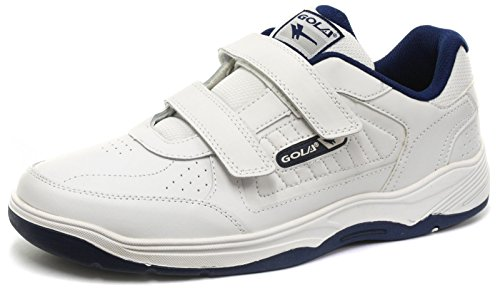 Gola Belmont Velcro WF White Mens Wide Fit Sneakers, Size 46