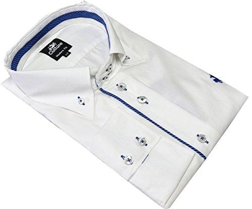 Culture Designerhemd, Modern fit, Langarm in Weiß,