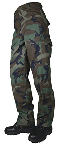 Woodland Bdu Pants - Tru-Spec Mens Tru Basic P/C R/S W/Zip Fly, Woodland, Extra Large, Regular