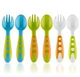 xoxo spoon - TODDLER UTENSILS BABY SPOONS & BABY FORKS SET WITH BABY UTENSILS CASE | Toddler Fork & Toddler Spoon Silverware Cutlery Set | Baby Spoon and Baby Fork Set BPA Free Kids Silverware | Baby Feeding Set |
