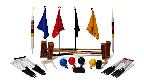 Uber Games 9 Wicket Croquet Set - Championship - 4 Player