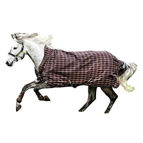 Horseware, Rhino Pony Wug Turnout Medium, Black/Grey/White Check & Safari, -