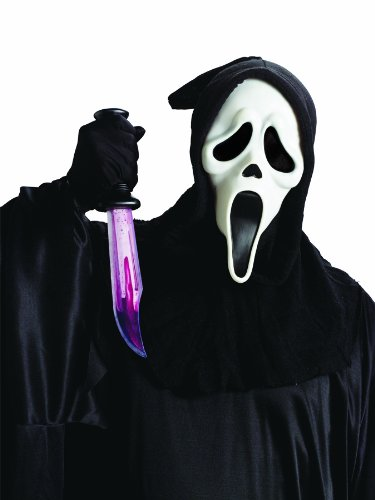 [Ghost Face Mask and Toy Knife Set] (Official Scream Costumes)