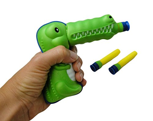 Curious Minds Busy Bags Crocodile Alligator Soft Suction Dart Play Gun Toy -...