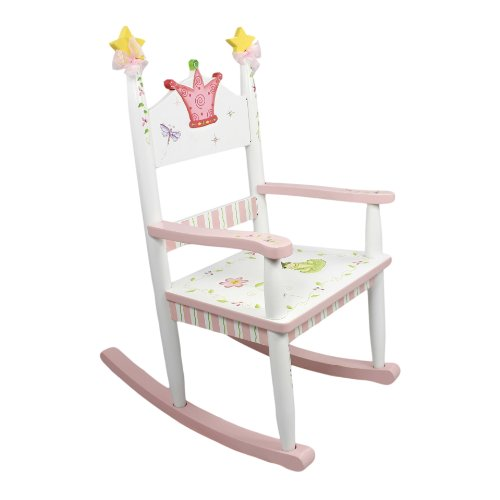 (Fantasy Fields - Princess & Frog Thematic Kids Wooden Rocking Chair   Imagination Inspiring Hand Crafted & Hand Painted Details   Non-Toxic, Lead Free Water-based Paint)