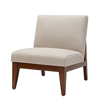 Kari Slant Back Wood Accent Chair Cream See Below