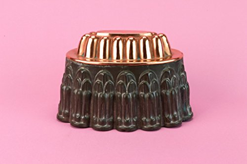 Medium Copper Baking Mould Braun Cake Pie Jelly Oval Victorian Antique English Late 19th Century by Lavish Shoestring