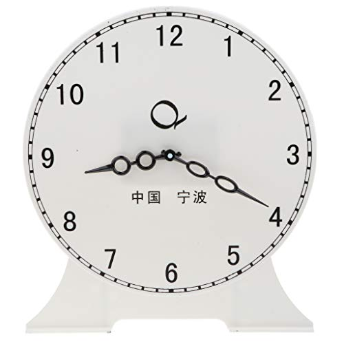 Flameer 9.45'' Children Teaching Clock Learn How to Tell Time Classroom Learning Clock - 12 Hour Clock A