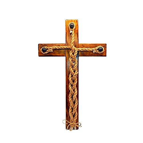 A Cord of Three Strands Cross Rustic Wood Wall Art 21