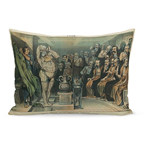 Emvency Throw Pillow Covers Phryne Before The Chicago Tribunal Apologies J L Gerome Pillow Case Cushion Cover Lumbar Pillowcase Decoration for Couch Sofa Bedding Car Home Decor 20 x 36 inchs