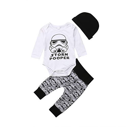 Infant Toddler Kids Baby Boy Girl Stormtrooper Tops Pants Leggings 3Pcs Outfits ()
