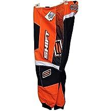 Shift Racing Assault Orange/Black/White Mens MX Motocross Racing Performance Pant 4108-002-1,2,3,4,5,6 Size 30