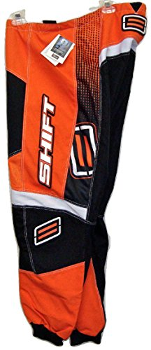 Shift Racing Assault Orange/Black/White Mens MX Motocross Racing Performance Pant 4108-002-1,2,3,4,5,6 Size 30 by Shift