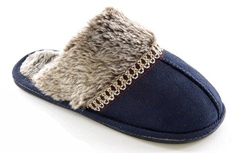 SlumberzzZ - Zapatillas de estar por casa de Material Sintético para mujer Azul - azul