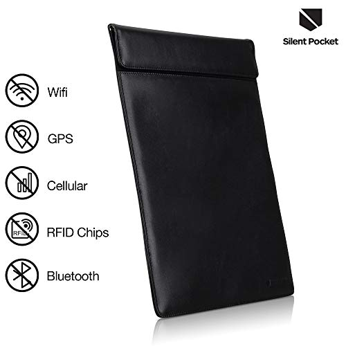 (Silent Pocket XL Faraday Bag Cage Cell Phone Sleeve Pouch - Blocks All Wireless)