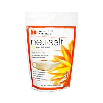 Amazon.com: Himalayan - Bolsa de sal de neti natural ...