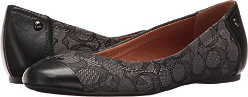 COACH Women's Chelsea Black Smoke Flat