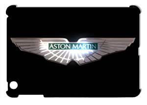 Aston Martin Car Logo on Black Hard Protective 3D iPad Mini Case by eeMuse