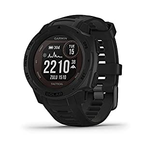 Garmin Instinct Solar Tactical, Solar-Powered Rugged Outdoor Smartwatch with Tactical Features, Built-in Sports Apps and…