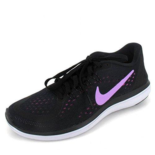 Nike WomenS Free RN Sense Running Shoe, Zapatillas Deportivas Para Interior Mujer Black/Fuchsia Glow