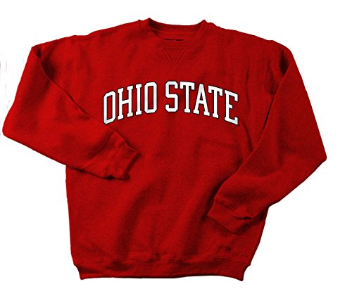 (Ohio State Buckeyes Adult Stretch Arch Crewneck Sweatshirt - Red , Large)
