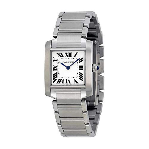 (Cartier Tank Francaise Silver Dial Stainless Steel Ladies Watch WSTA0005)